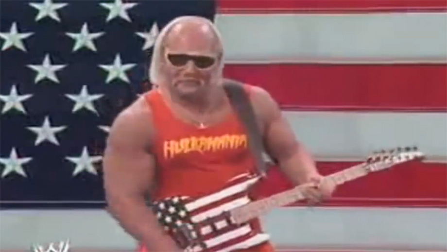 Hulk Hogan mit Gitarre