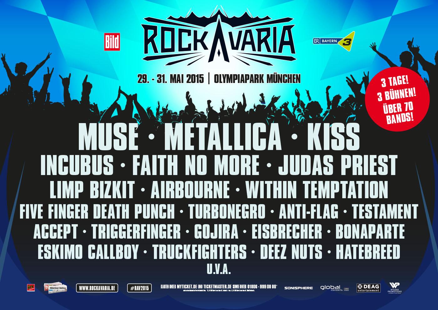 Rockavaria: Die Bands