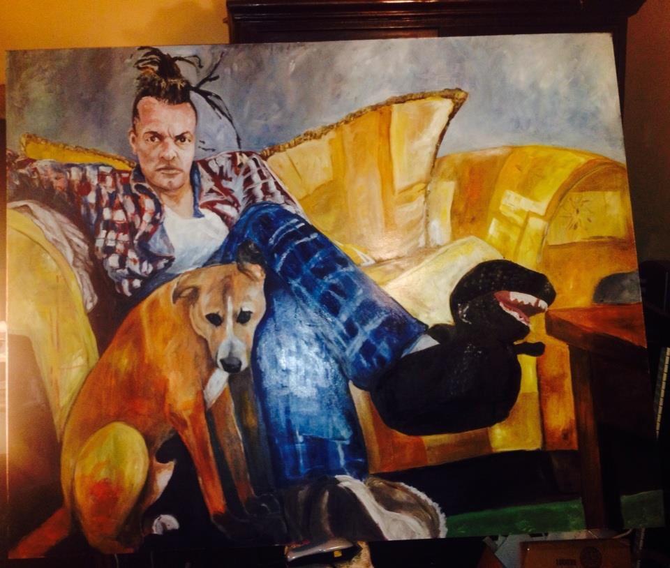 Chuck Mosley Portrait mit Hund