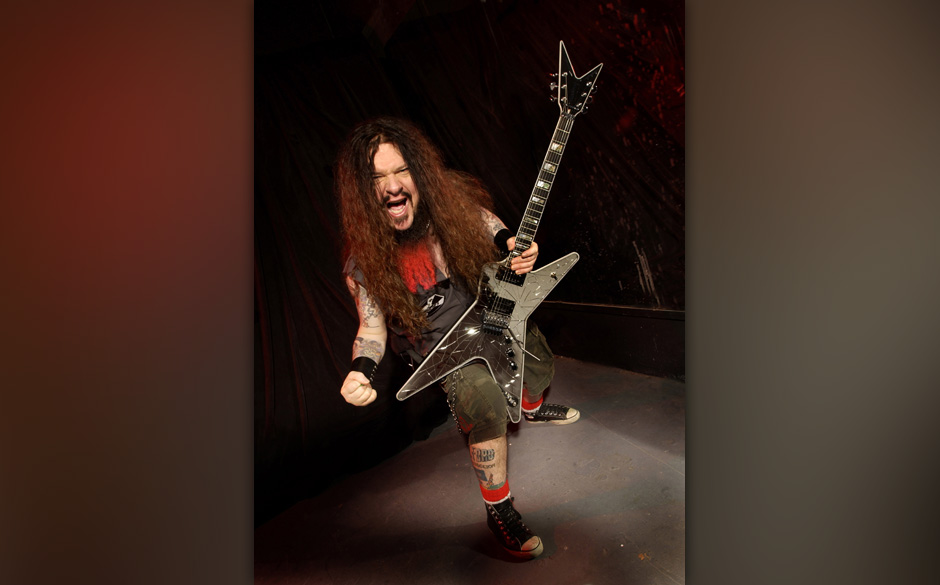 Darrell 'Dimebag' Abbott during Damageplan Photo Session - July 2004 at Private Studio in Hollywood, California, United State