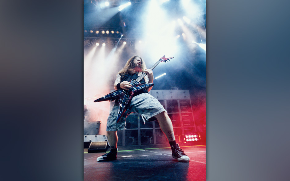 Dimebag Darrell / guitarist of Pantera during Pantera Live at San Diego in San Diego, California, United States. (Photo by An