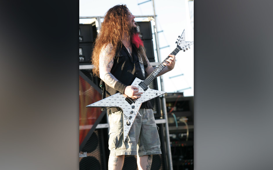 Dimebag Darrell of Damageplan (Photo by Jason Squires/WireImage)