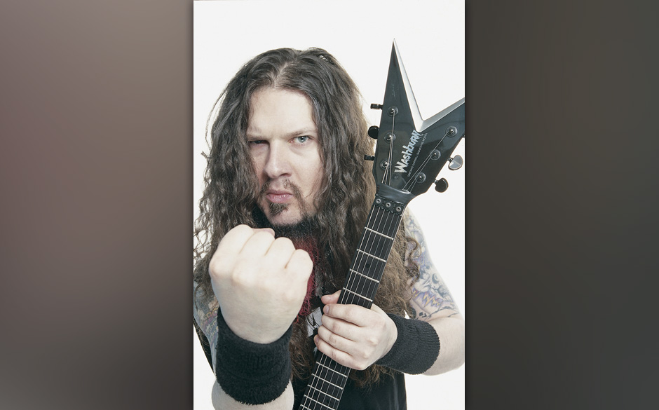 UNITED KINGDOM - JANUARY 01:  Photo of Dimebag DARRELL; guitarist with Pantera  (Photo by James Cumpsty/Redferns)
