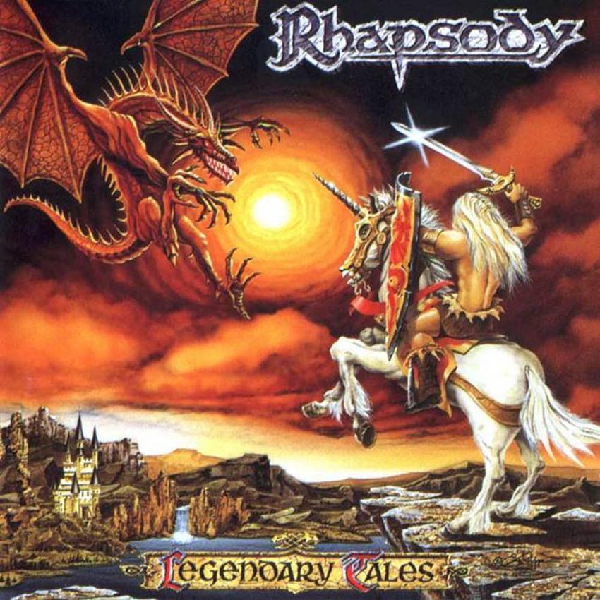 Auf dem Cover zu ihrem Debüt 'Legendary Tales' haben die italienischen Power-Metaller von Rhapsody 1997 einfach an alles ged