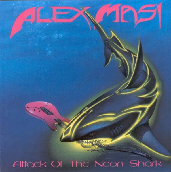 Es überrascht nicht wirklich, dass das Album 'Attack of the Neon Shark' des italienischen Gitarristen Alex Masi im Jahr 1989