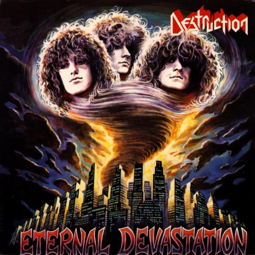 Wie der Umschlag des 1986er-Albums 'Eternal Devastation' der deutschen Thrash-Metal-Gruppe Destruction verrät, trugen in den