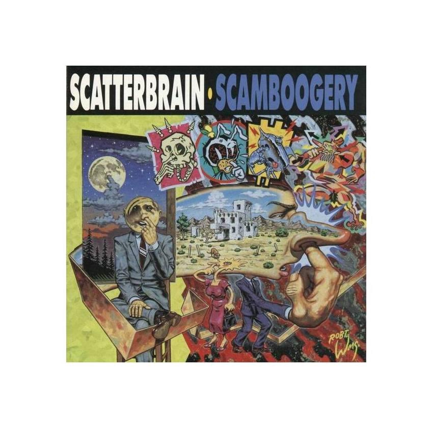 Im Fall des Coverdesigners von 'Scamboogery', dem 1991er-Album der Band Scatterbrain, ist das wohl 'Nasenbohren'. Ob Insekten