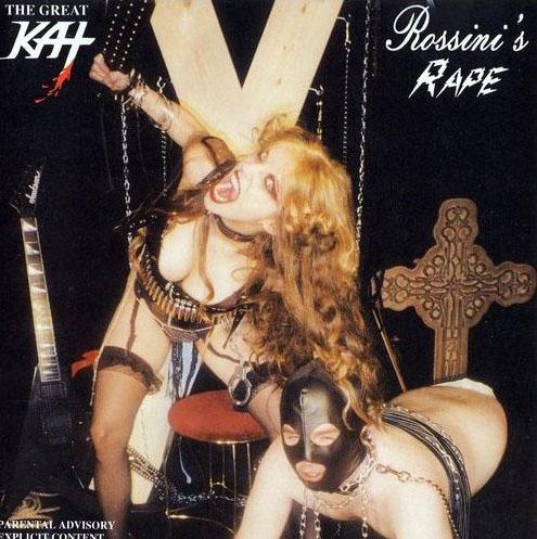 Spiegel-Fotostrecke 'Peinliche Plattencover' The Great Kat ROSSINI'S RAPE