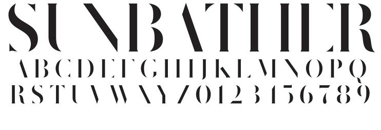 Sunbather-Schriftart Bolt & Black