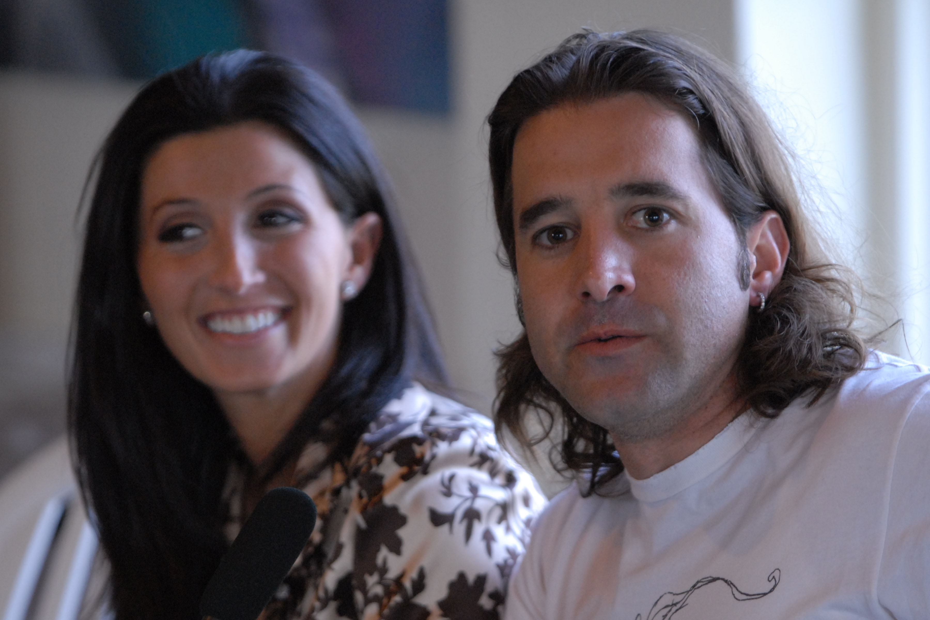 BOCA RATON, FL - MAY 8:  Creed lead singer Scott Stapp and his wife Jaclyn Nesheiwat announce their sponsorship for The Haven