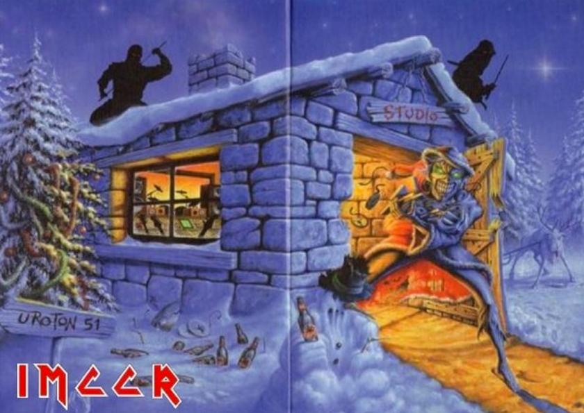 Die Weihnachtskarte für Iron Maiden Fanclub-Mitglieder