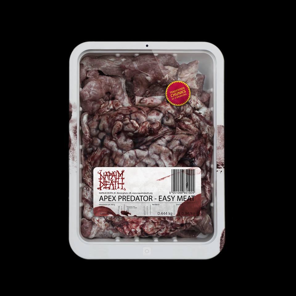Die neuen Metal-Alben im Januar 2015 - Napalm Death APEX PREDATOR - EASY MEAT