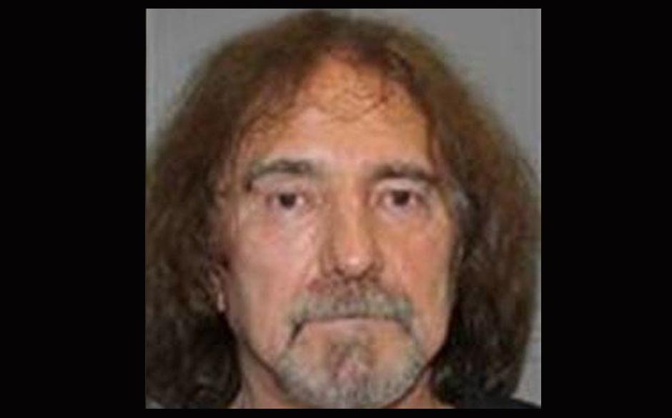 Polizeifoto von Geezer Butler (Black Sabbath)