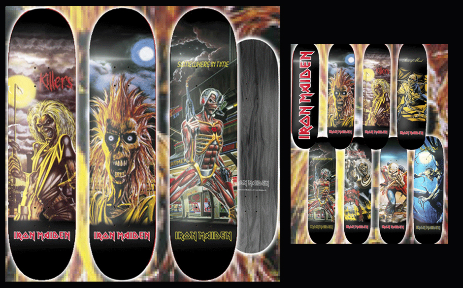 Iron Maiden-Skateboards von Backstreet International Merchandise Limited