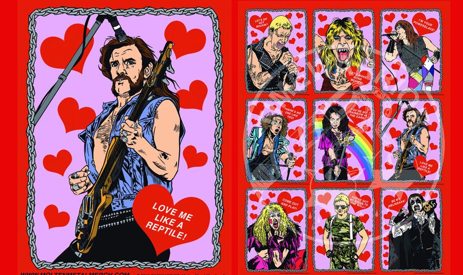 Metal-Valentinstagskarten von Timewarrior: Lemmy Kilmister & Übersicht