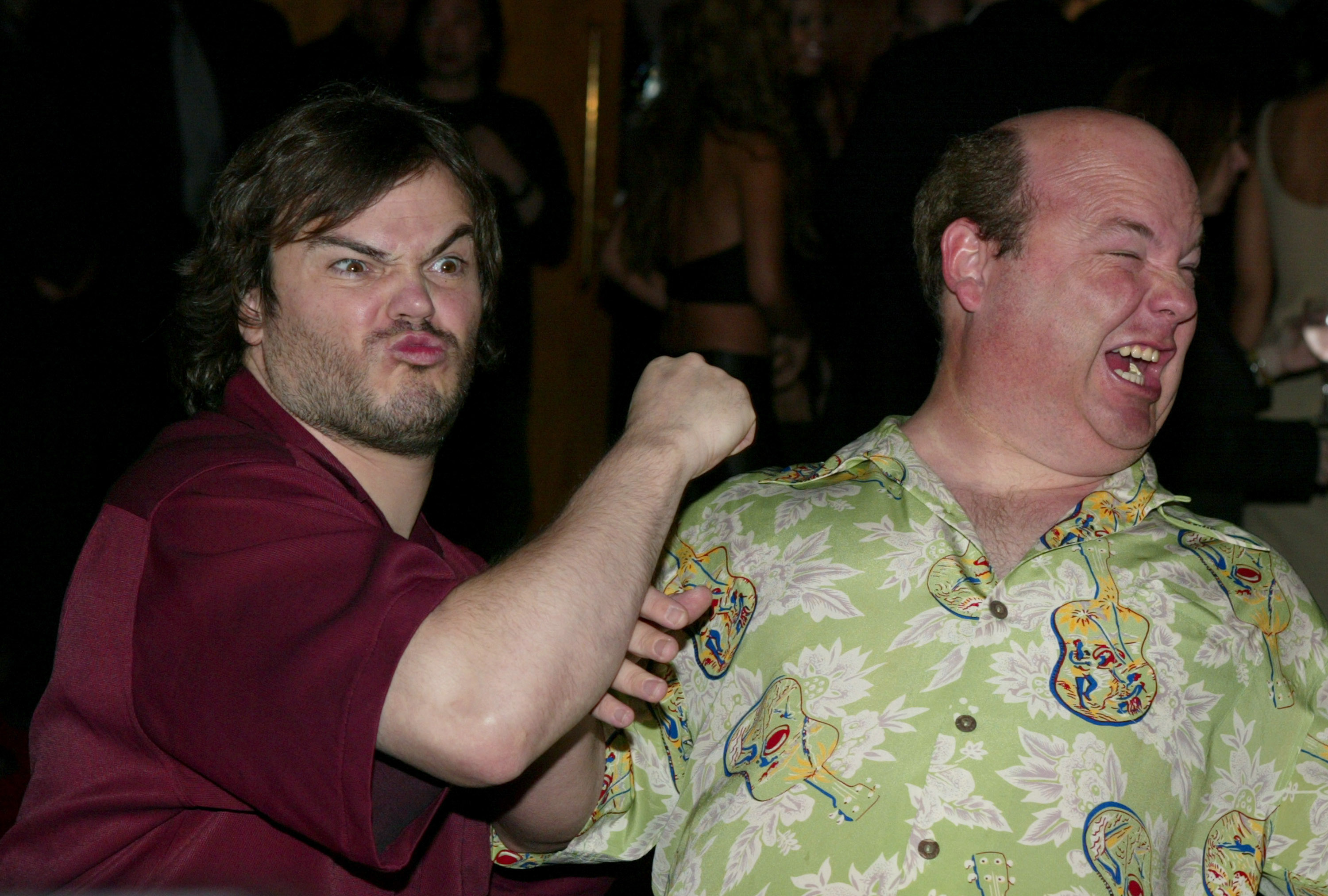 Tenacious D - Jack Black and Kyle Gass during 44th GRAMMY Awards - Sony Music Entertainment After-Party at Morton's Restauran