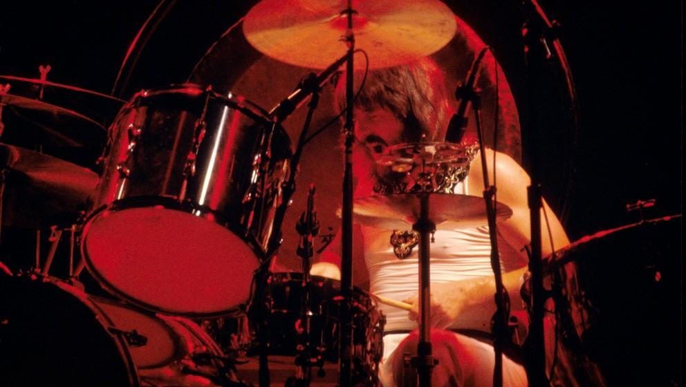 NEW YORK - JUNE: John Bonham from Led Zeppelin performs live on stage at Madison Square Garden, New York in June 1977 (Photo