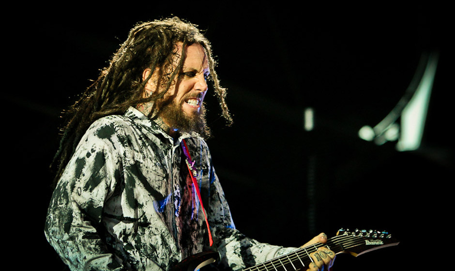 Brian Head mit Korn live beim Nova Rock 2013