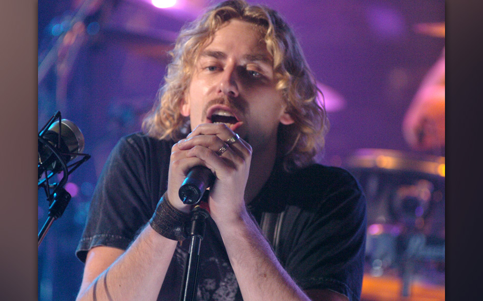 Chad Kroeger of Nickelback during Nickelback Visits MuchMusic Studios During Their Canadian Tour - October 13, 2005 at CHUM C