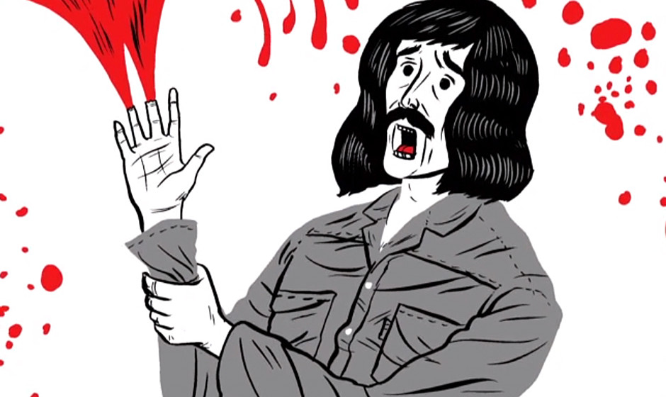 Tony Iommis (Black Sabbath) Unfall in 'The Complete History Of Heavy Metal'