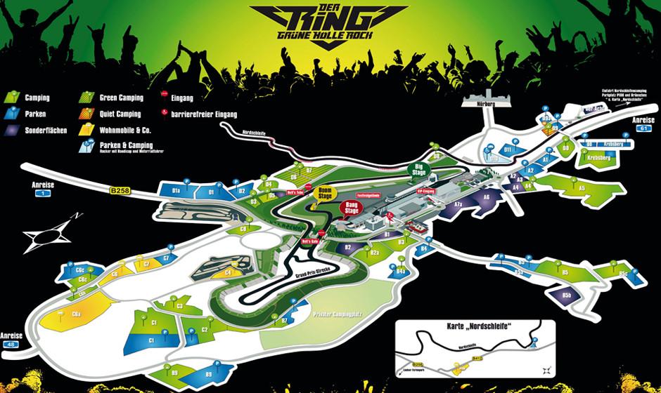 Der Ring - Grüne Hölle Rock 2015-Geländeplan