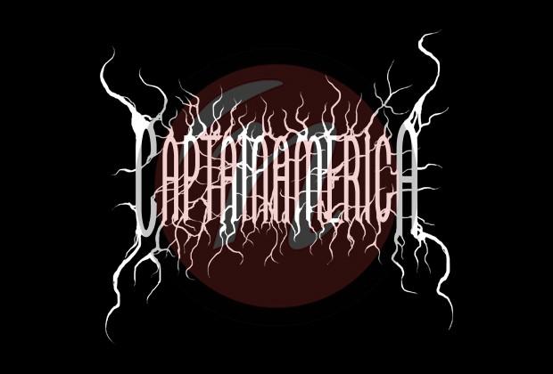 Captain America Black Metal-Logo