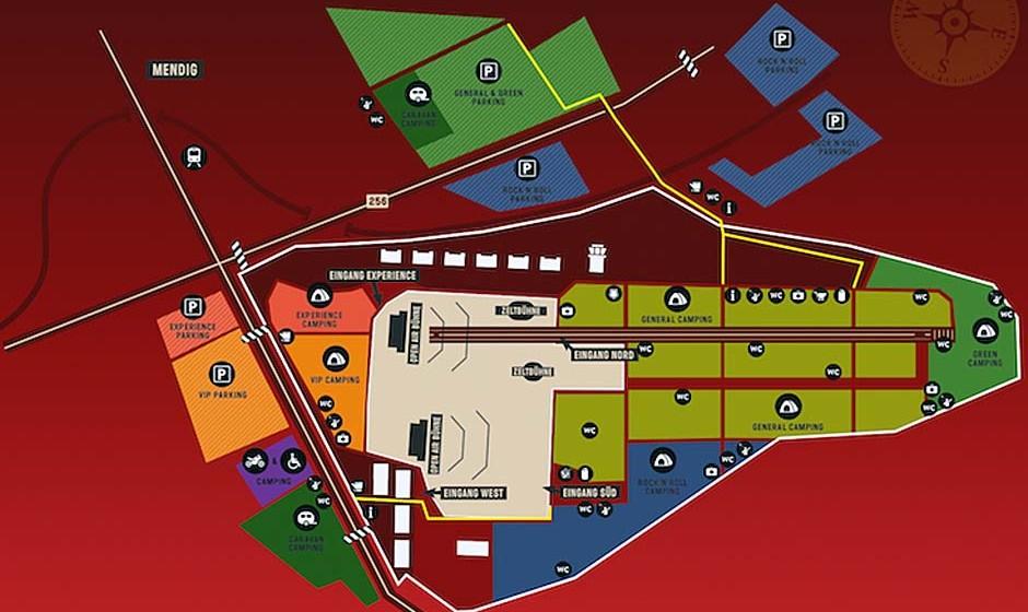Geländeplan für Rock am Ring 2015