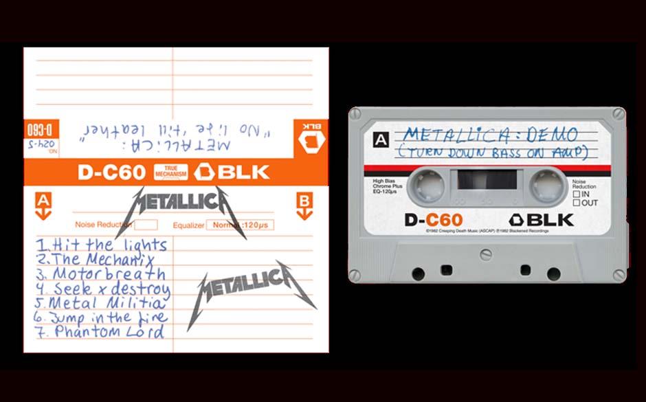 Cover der Wiederveröffentlichung von Metallicas NO LIFE 'TIL LEATHER-Kassetten-Demo
