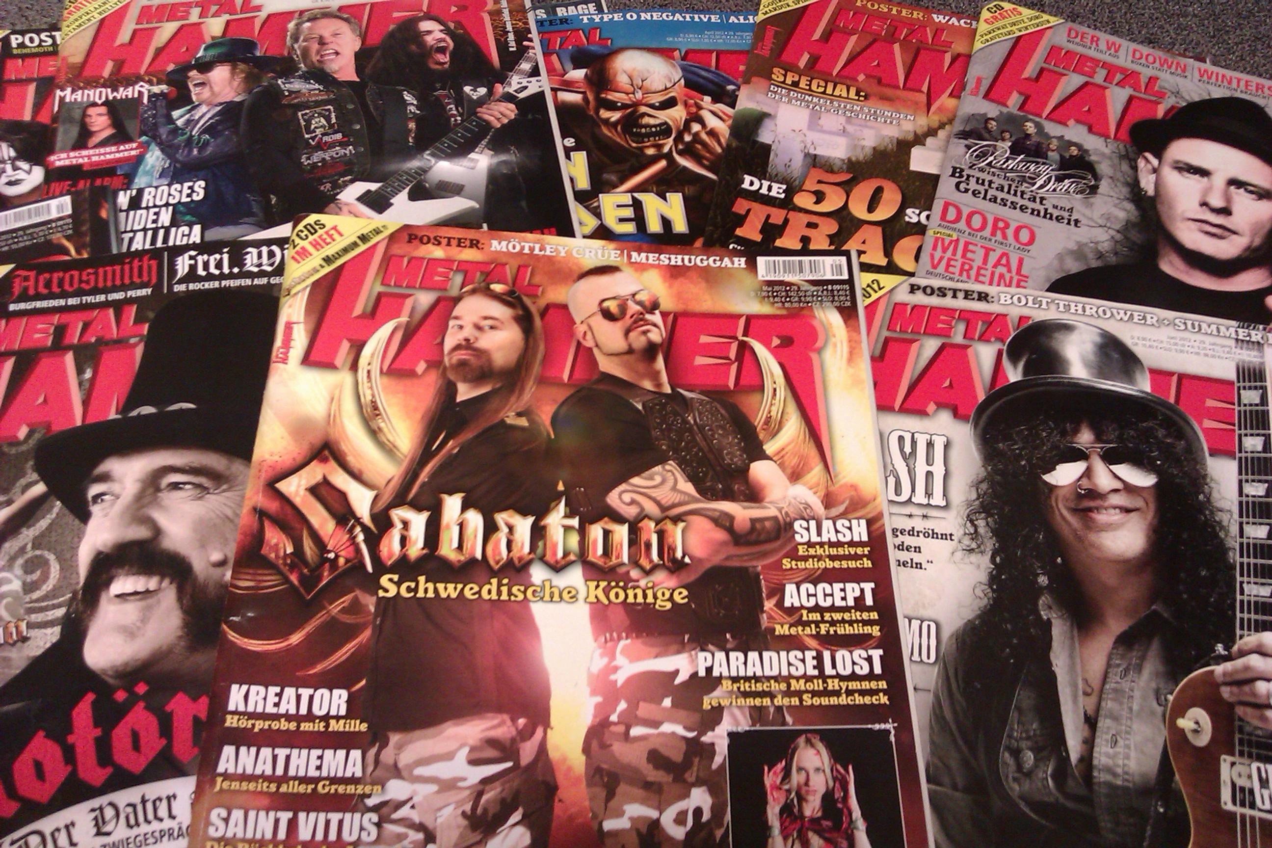 METAL HAMMER Titelbilder 2012