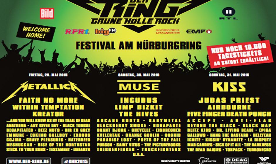 Der Ring - Grüne Hölle Rock 2015 Line-Up