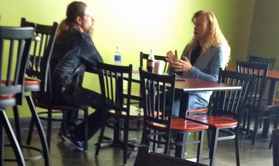 Chris Adler (Lamb Of God) und Dave Mustaine (Megadeth)
