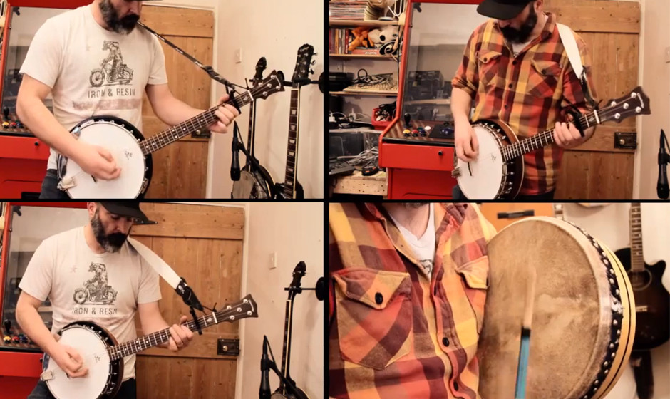 Banjo Guy Ollies Video zu seinem Cover von Metallicas 'Enter The Sandman'