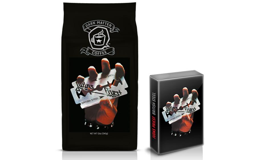 BRITISH STEEL-Kaffee mit Kassetten-Single