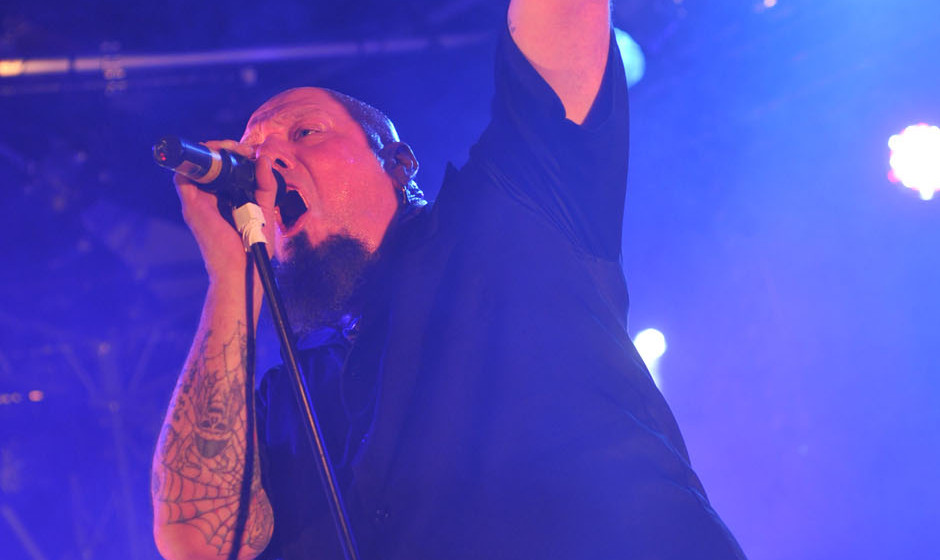 PRESTATYN, UNITED KINGDOM - DECEMBER 4: Paul Di'Anno performs live on stage at Hard Rock Hell on December 4, 2010. (Photo by