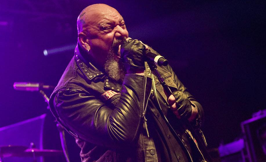 PWLLHELI, UNITED KINGDOM - NOVEMBER 30: English heavy metal musician Paul Di'Anno performing live on stage at the 2013 Hard R