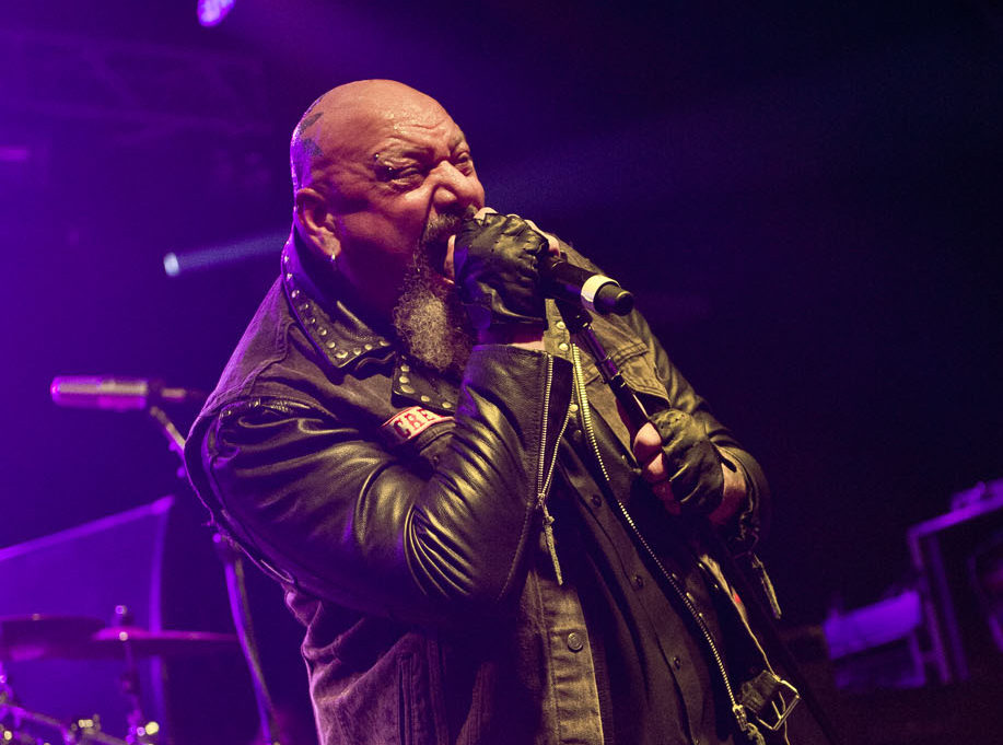 PWLLHELI, UNITED KINGDOM - NOVEMBER 30: English heavy metal musician Paul Di'Anno performing live on stage at the 2013 Hard R