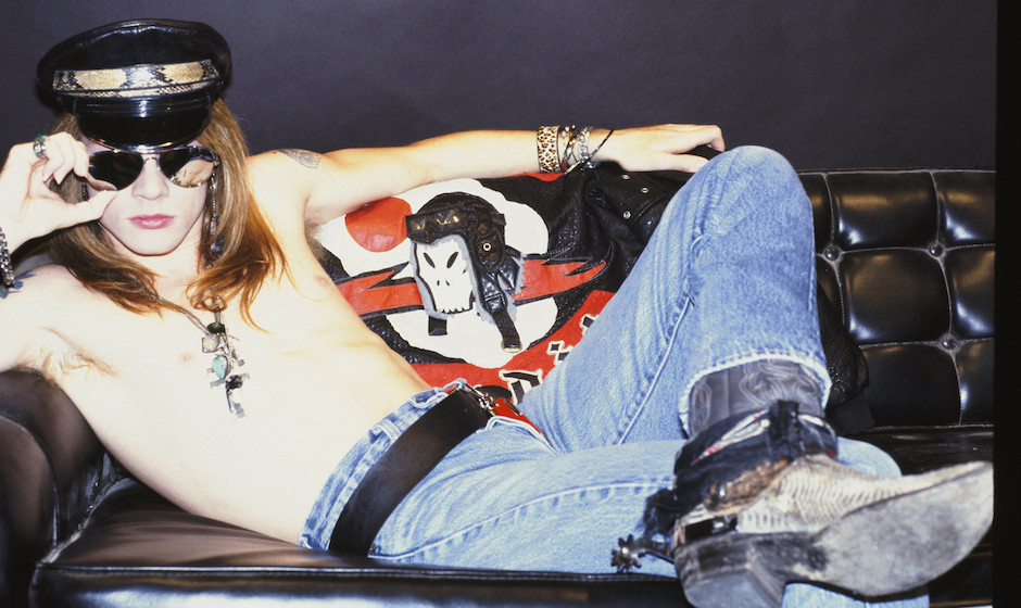 OCTOBER 1985:  Singer Axl Rose of the rock group 'Guns n' Roses' poses for a portrait in October 1985 in Los Angeles, Califor