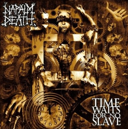 Napalm Death TIME WAITS FOR NO SLAVE – rotes Vinyl