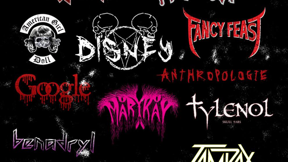 Firmenlogos als  Metal-Logos