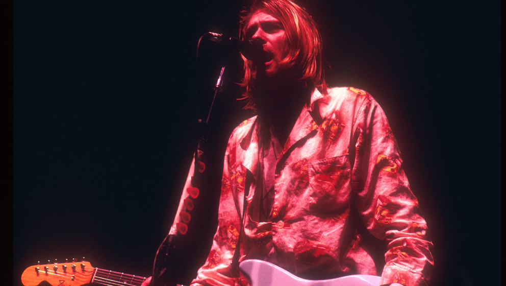 Kurt Cobain of Nirvana (Photo by Jeffrey Mayer/WireImage)