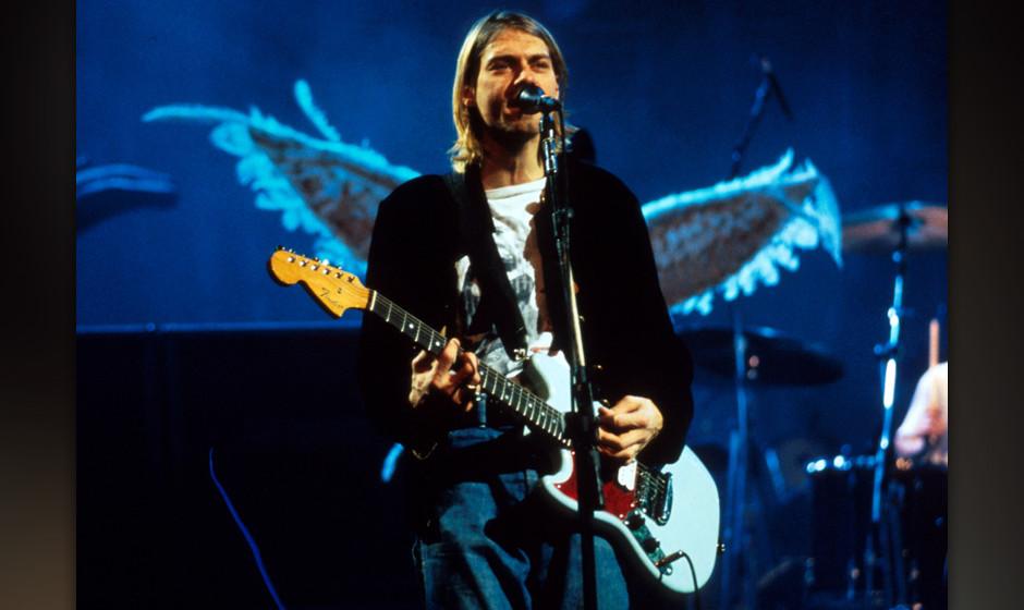 Kurt Cobain of Nirvana in New York City, New York (Photo by Kevin Mazur/WireImage)