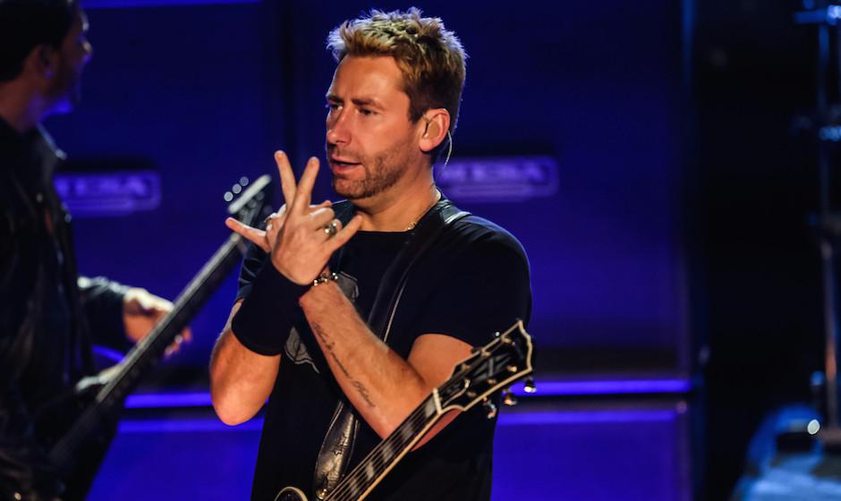 Chad Kroeger tritt mit Nickelback im iHeartRadio Theater in Kalifornien auf.