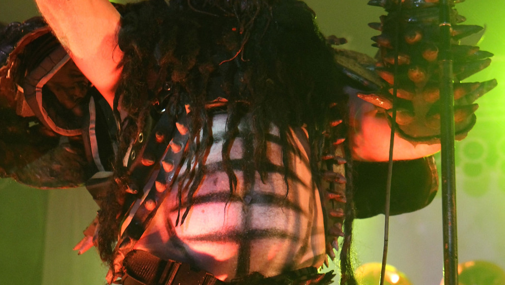 MANCHESTER, TN - JUNE 12:  Oderus Urungus of GWAR performs onstage during Bonnaroo 2010 at The Other Tent on June 12, 2010 in