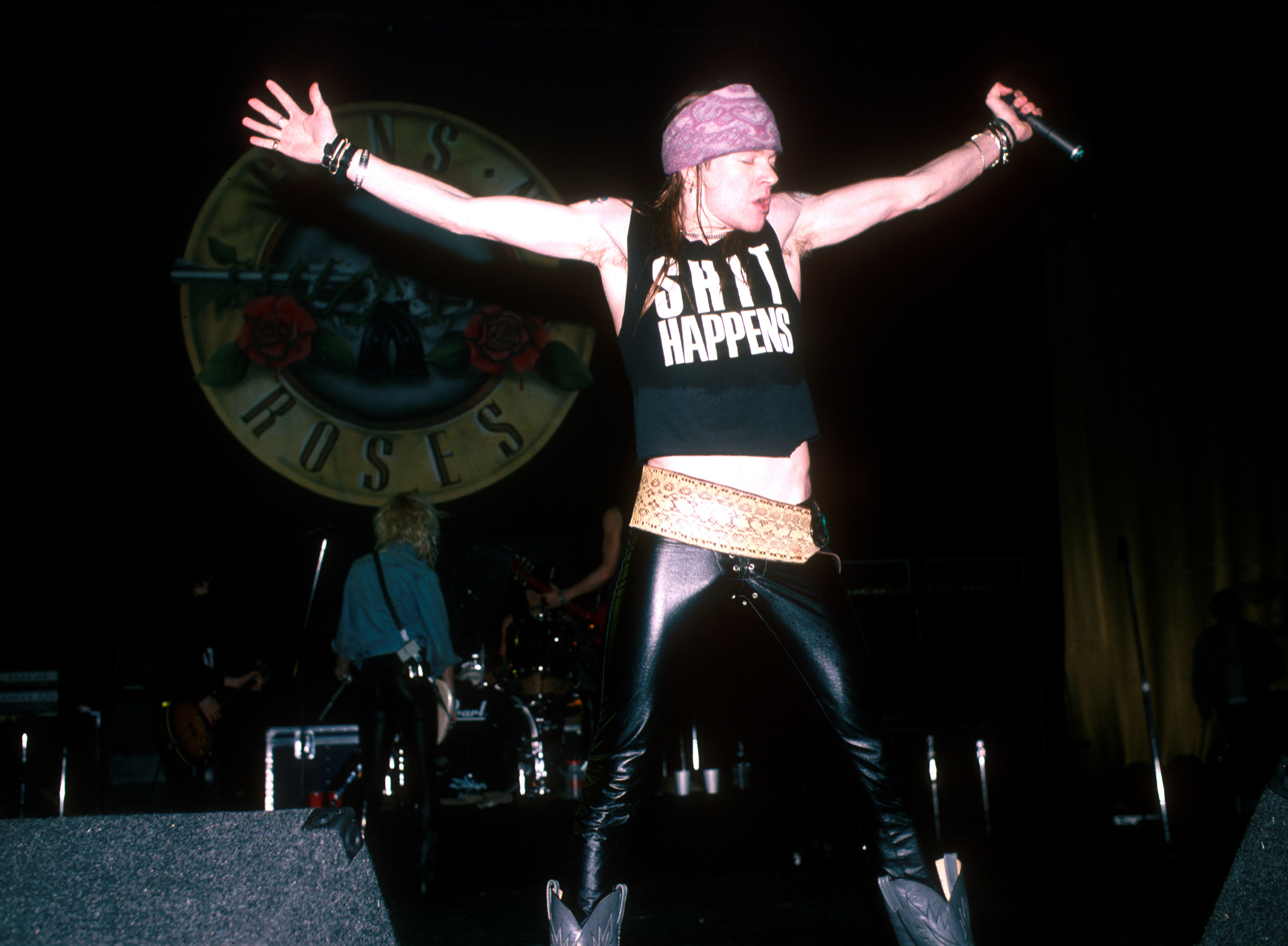Axl Rose of Guns N' Roses in concert (Photo by Jeffrey Mayer/WireImage)