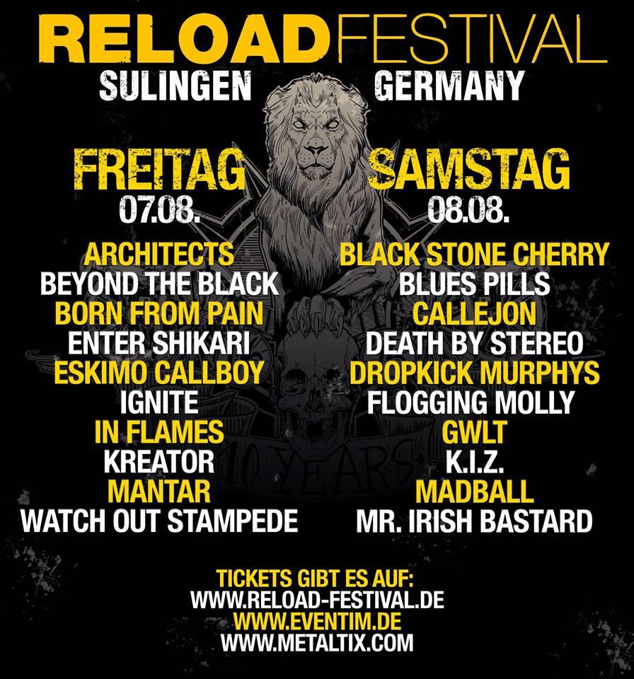 Reload Festival Tagesaufteilung