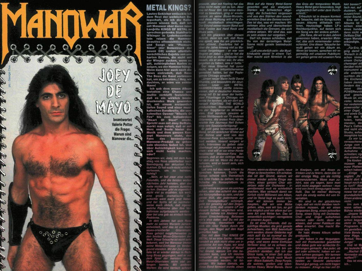 Manowar in METAL HAMMER 12/1988