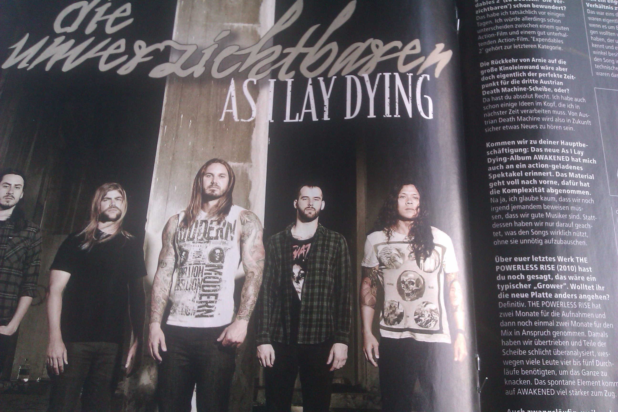 As I Lay Dying in METAL HAMMER-Ausgabe 10/2012