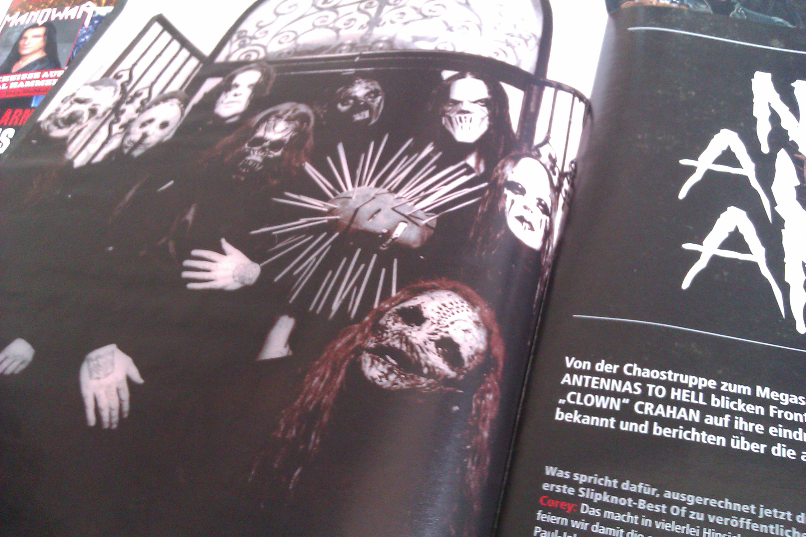 Slipknot in METAL HAMMER-Ausgabe 08/2012