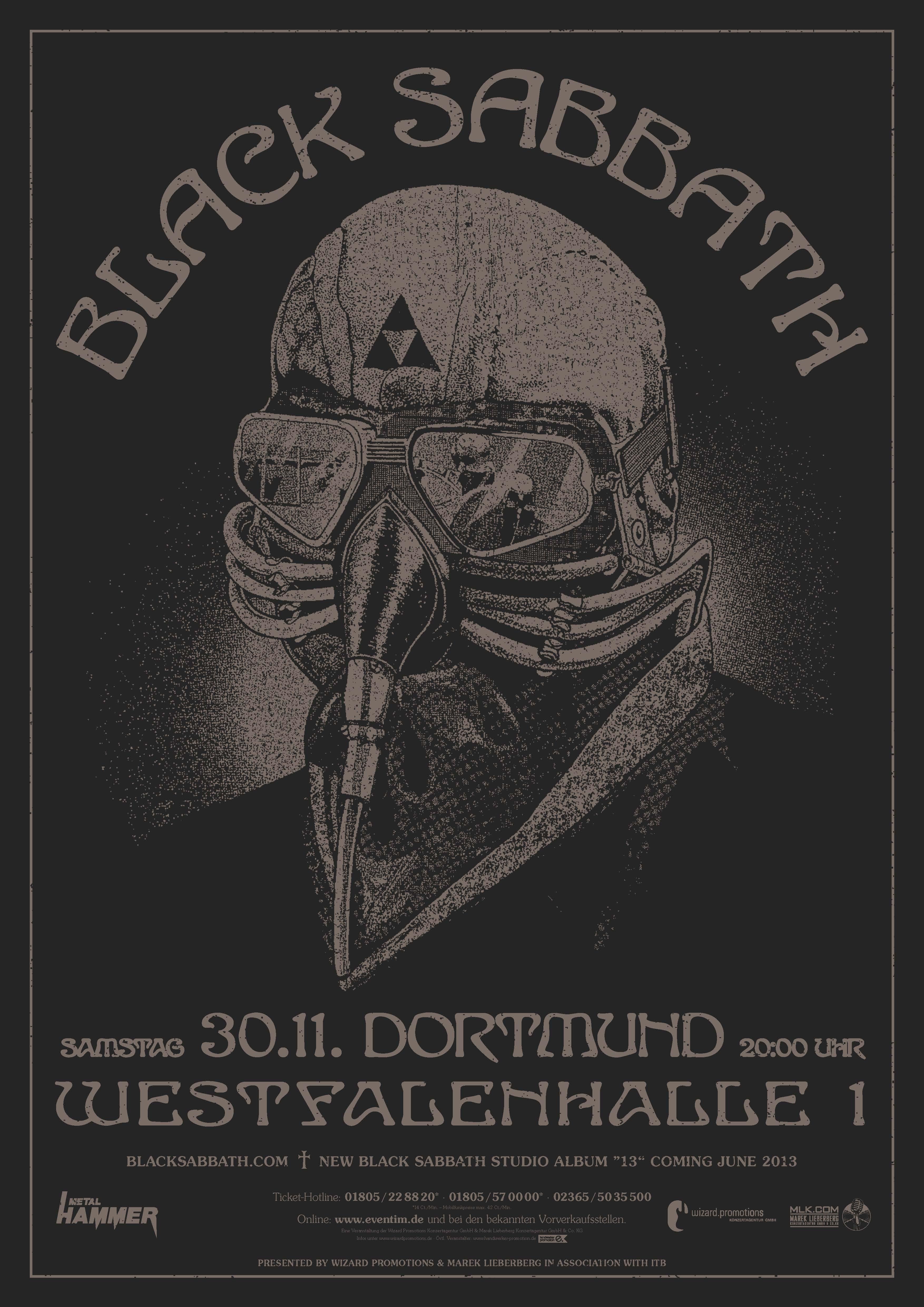 Black Sabbath Live 2013, präsentiert von METAL HAMMER