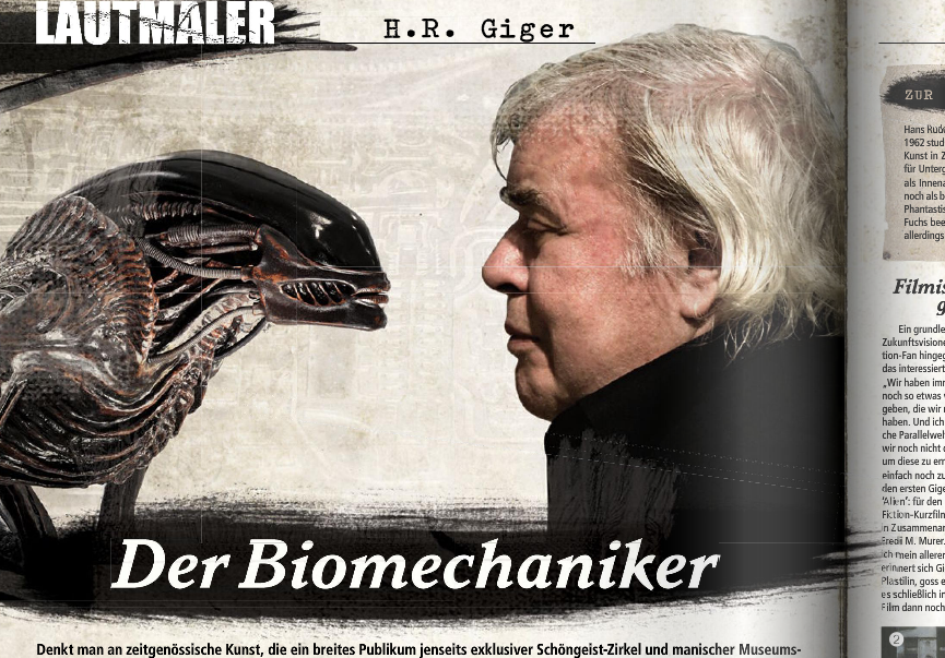 H.R. Giger in METAL HAMMER 03/2012